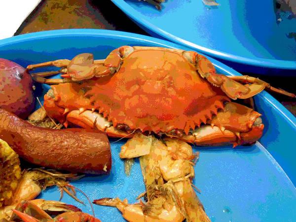 Digital Art - 101516 Crab Boil by Garland Oldham