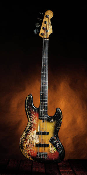 Photograph - 10.1834 011.1834c Jazz Bass 1969 Old 69 by M K Miller