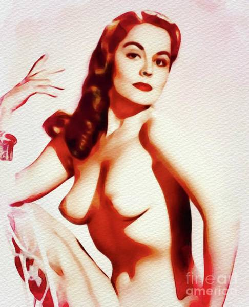 Naturist Wall Art - Painting - Vintage Pinup by Frank Falcon