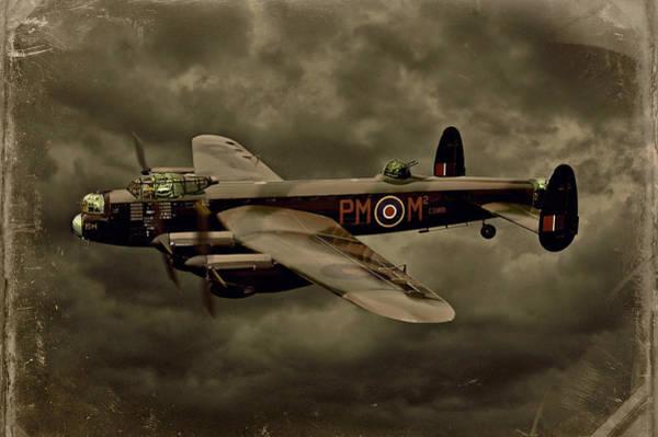 Lancaster Photograph - 103 Squadron Avro Lancaster by Steven Agius