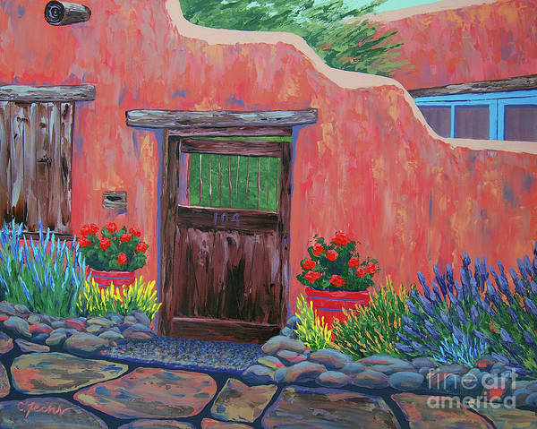 Painting - 104 Canyon Rd, Santa Fe by Cheryl Fecht