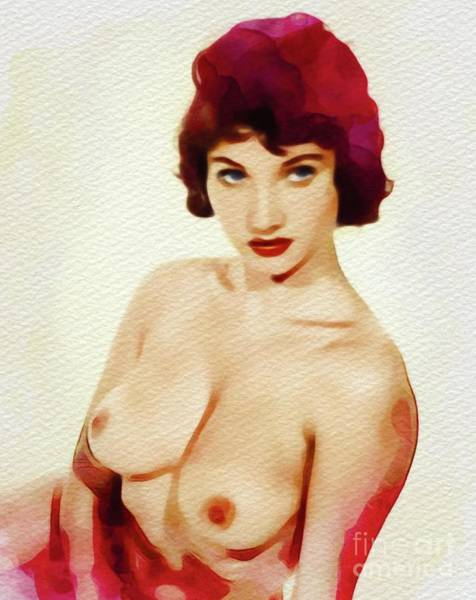 Wall Art - Painting - Vintage Pinup by Frank Falcon