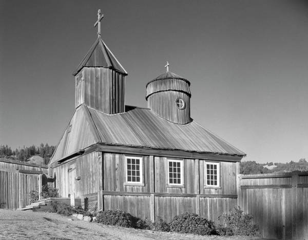 Photograph - 106038 Chapel At Fort Ross State Park Ca by Ed Cooper Photography