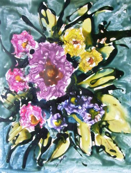 Wall Art - Painting - Divine Flowers by Baljit Chadha