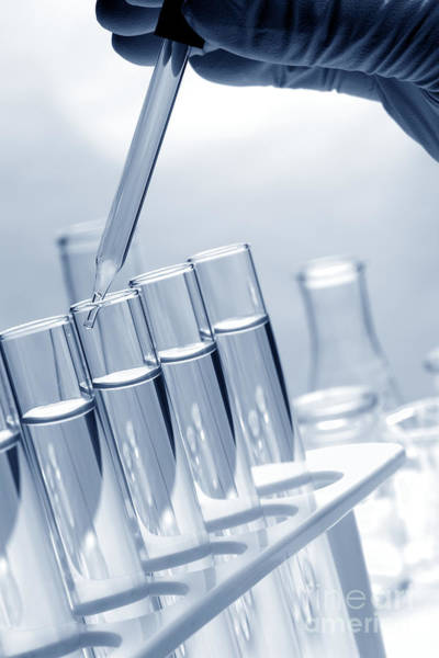Photograph - Test Tubes In Science Research Lab by Olivier Le Queinec