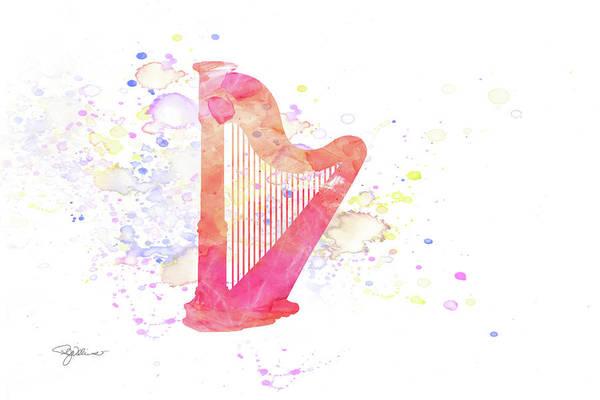 Harp Mixed Media - 10831 Harp by Pamela Williams