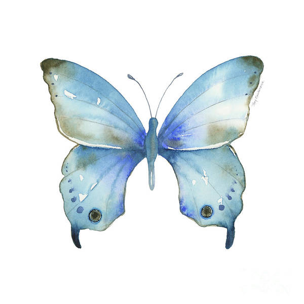 Painting - #109 Blue Diana Butterfly by Amy Kirkpatrick