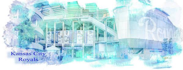 Photograph - 10928 Kauffman Stadium Gate D by Pamela Williams
