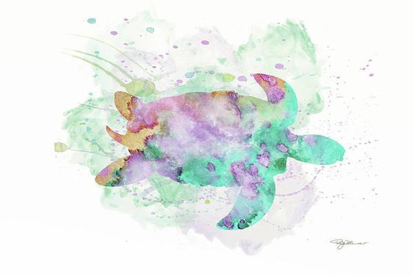 Digital Art - 10962 Sea Turtle by Pamela Williams