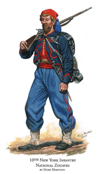 Wall Art - Painting - 10th New York Infantry - National Zouaves by Mark Maritato