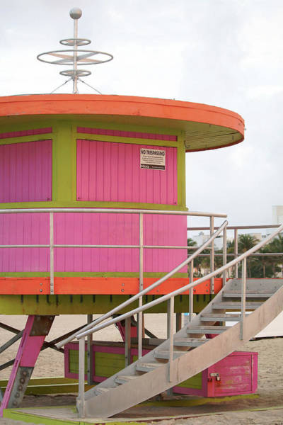 Wall Art - Photograph - 10th Street Lifeguard Tower - South Beach by Art Block Collections