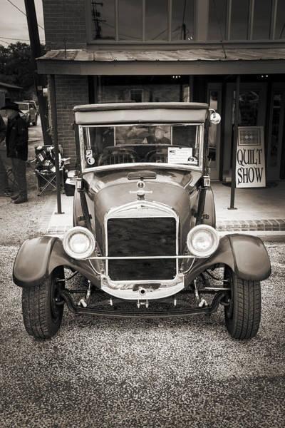 Photograph - 1927 Ford Coupe Car Antique Vintage Automobile Photograph Fine A by M K Miller