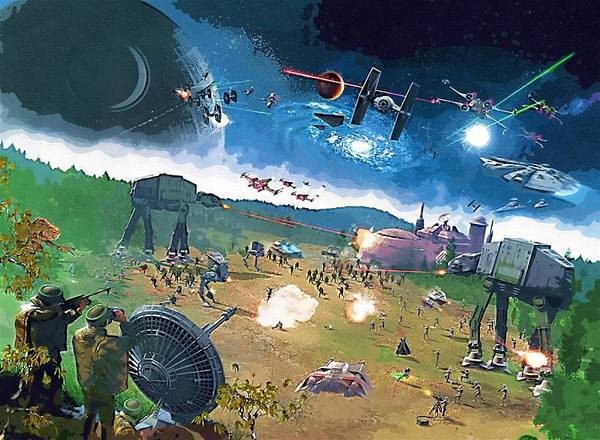 Star Wars Episode 3 Wall Art - Digital Art - 2 Star Wars Poster by Larry Jones