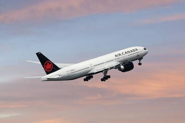 Air Canada Wall Art - Mixed Media - Air Canada Boeing 777-233 by Smart Aviation