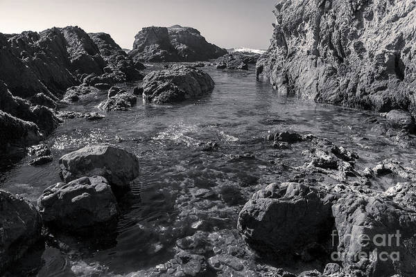 Photograph - California Coast In Black And White by Gregory Dyer