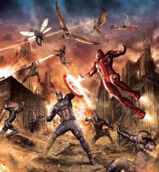 Civil War Digital Art - Captain America Civil War 2016 by Geek N Rock