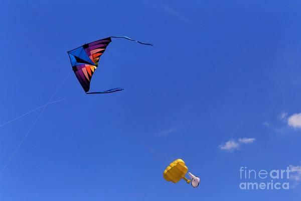 Delta Mixed Media - Flying Kite by Douglas Sacha