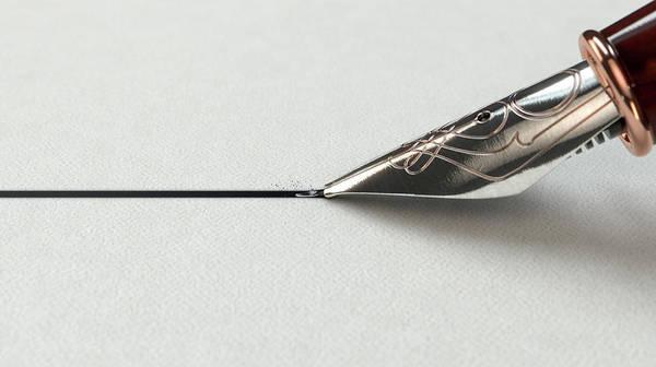 Wall Art - Digital Art - Fountain Pen Drawing Line by Allan Swart