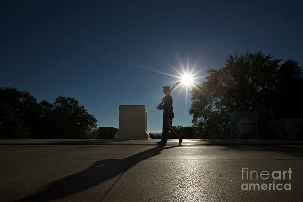 Famous Cemeteries Photograph - Honor Guard At The Tomb by Terry Moore