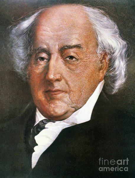 Wall Art - Photograph - John Adams (1735-1826) by Granger