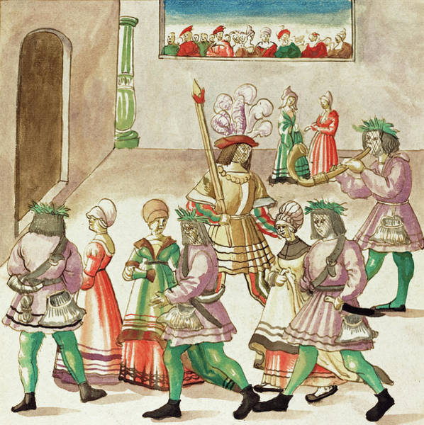 Painting - Masquerade by German 16th Century