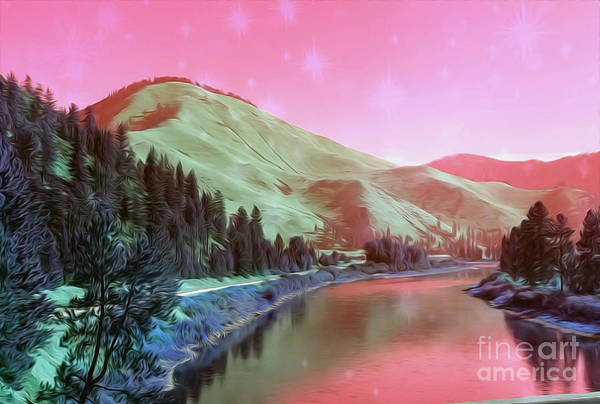 Wall Art - Digital Art - Mountains Landscape by Free Spirit