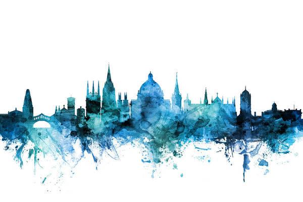 Wall Art - Digital Art - Oxford England Skyline by Michael Tompsett