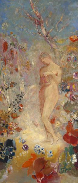 Wall Art - Painting - Pandora by Odilon Redon