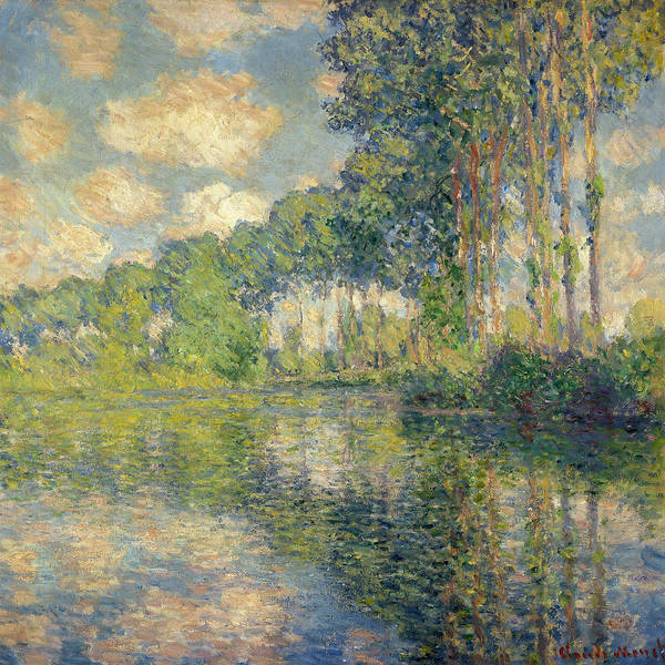 Poplar Painting - Poplars On The Epte by Claude Monet