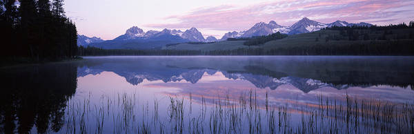 Redfish Lake Photograph - Reflection Of Mountains In A Lake by Panoramic Images