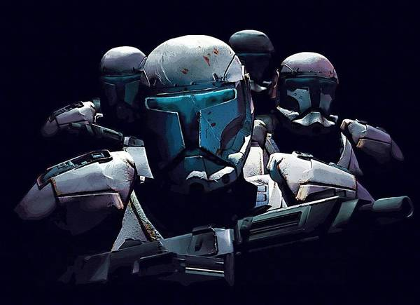 Star Wars Episode 3 Wall Art - Digital Art - Star Wars At Art by Larry Jones