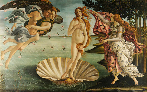Renaissance Painters Wall Art - Painting - The Birth Of Venus by Sandro Botticelli