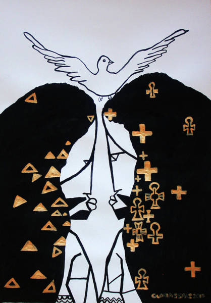 Painting - The Holy Trinity by Gloria Ssali