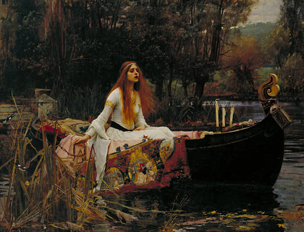 Wall Art - Painting - The Lady Of Shalott by John William Waterhouse