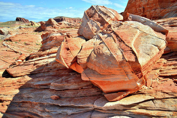 Photograph - Valley Of Fire Sandstone by Ray Mathis