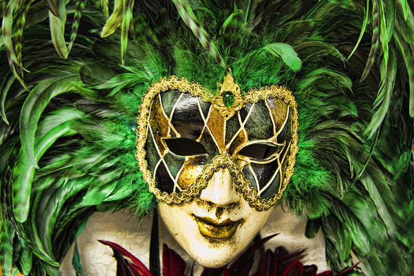 Gra Photograph - Venetian Carnaval Mask by David Smith