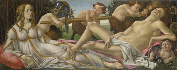 Botticelli Wall Art - Painting - Venus And Mars by Sandro Botticelli