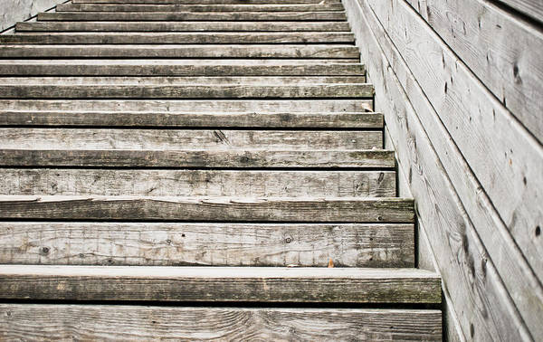 Wall Art - Photograph - Wooden Steps by Tom Gowanlock