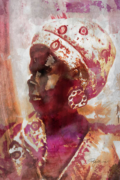 Photograph - 11052 African Woman by Pamela Williams