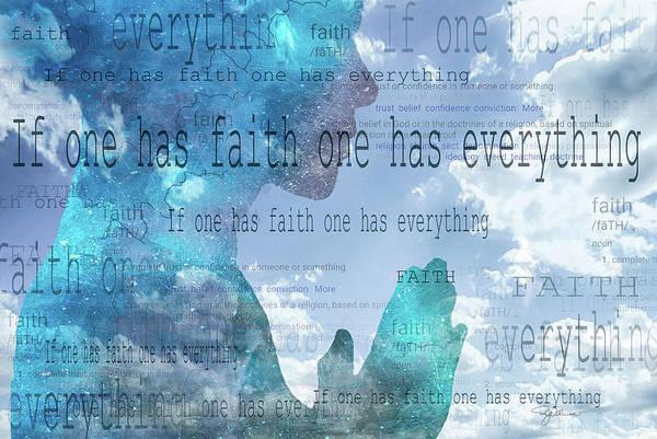Photograph - 11054 If One Has Faith by Pamela Williams