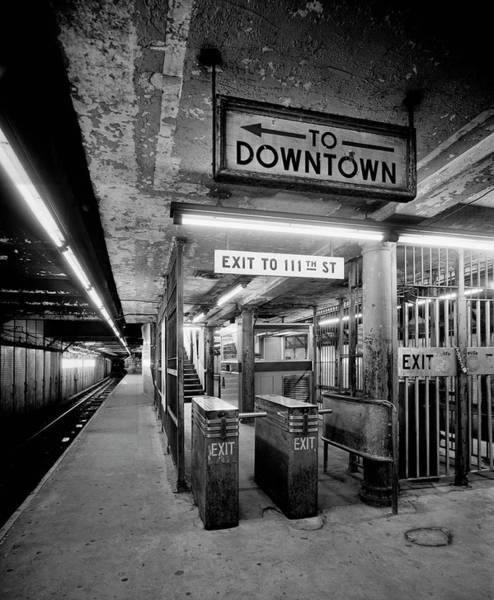 Station To Station Photograph - 110th Street And Lenox Avenue Station - New York City by Daniel Hagerman