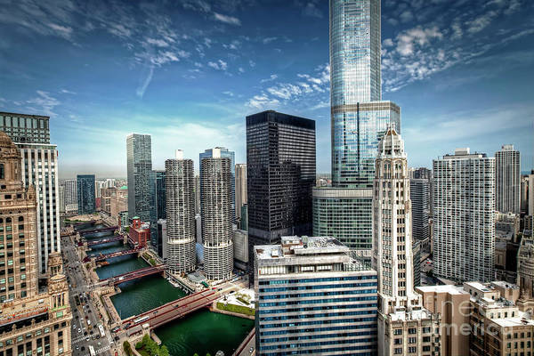 Wall Art - Photograph - 1138 Chicago River View by Steve Sturgill