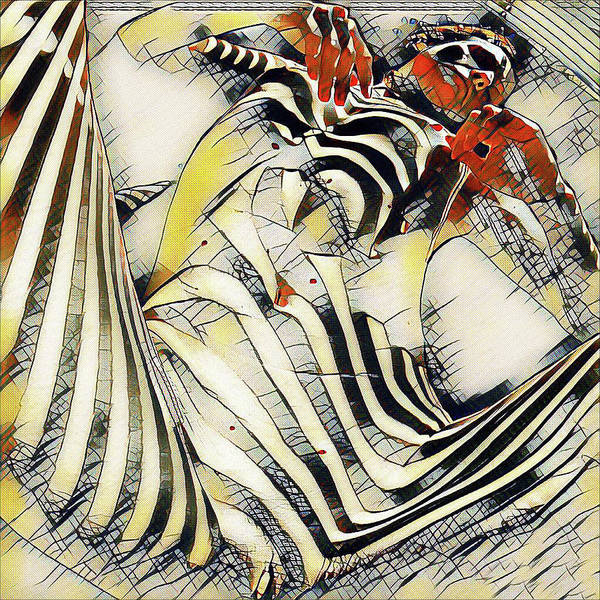 Digital Art - 1177s-ak Erotica In The Style Of Kandinsky by Chris Maher
