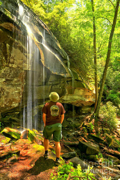 Photograph - Pisgah National Forest Hiker by Adam Jewell