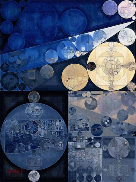 Wall Art - Digital Art - Abstract Painting - Oxford Blue by Vitaliy Gladkiy