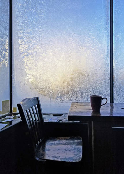Photograph - 14 Below At The Coffee Shop This Morning by Jim Hughes