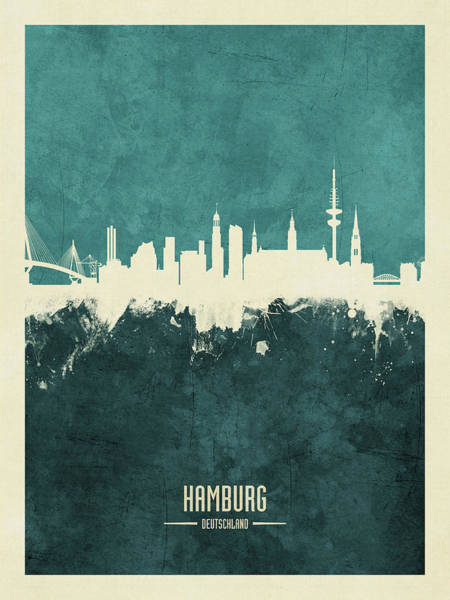 Wall Art - Digital Art - Berlin Germany Skyline by Michael Tompsett