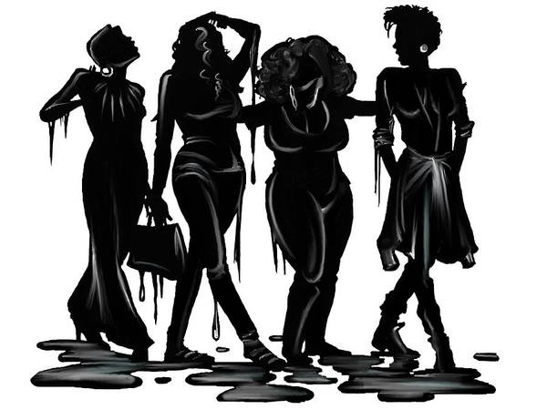 Stylish Drawing - Black. by Terri Meredith