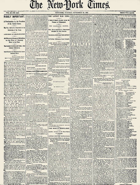 Photograph - Emancipation Proclamation by Granger