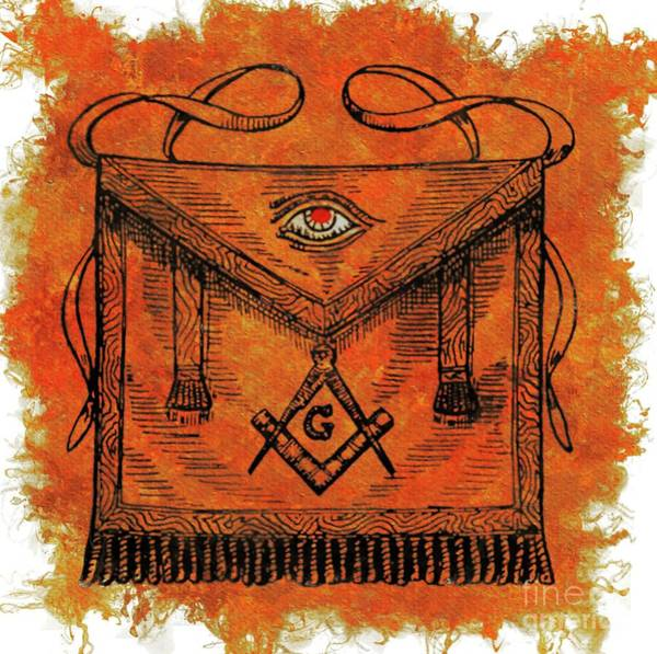 Wall Art - Painting - Freemason Symbolism by Pierre Blanchard